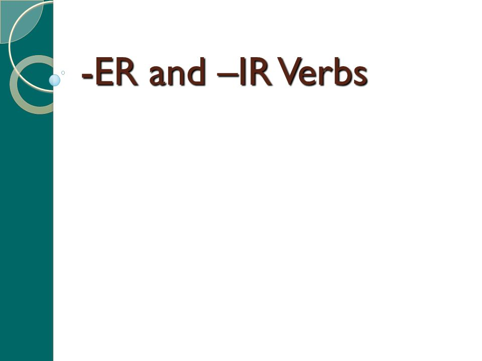 Review Verb Infinitive Conjugate Subject Conjugations Subject pronouns