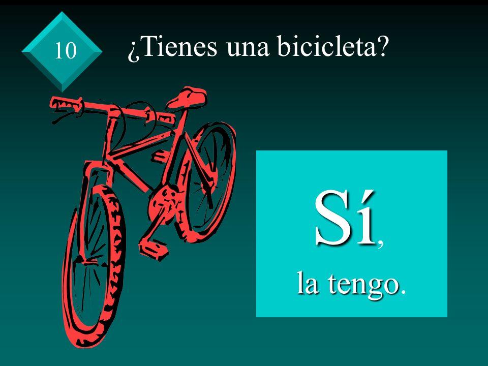 ¿Tienes una bicicleta Sí, la tengo la tengo. 10