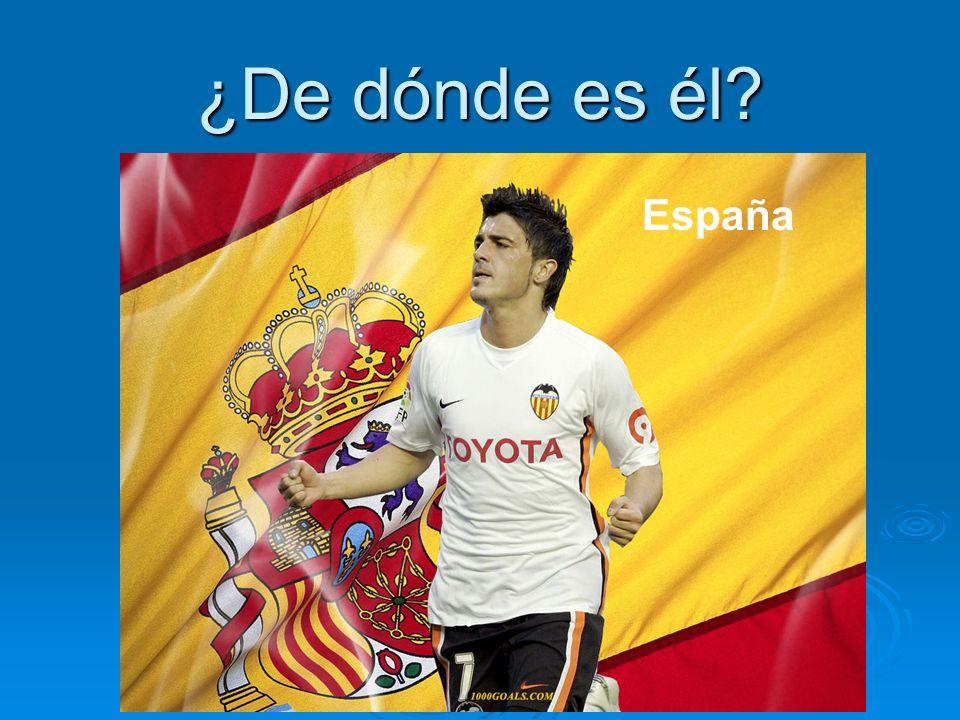 ¿De dónde es él España