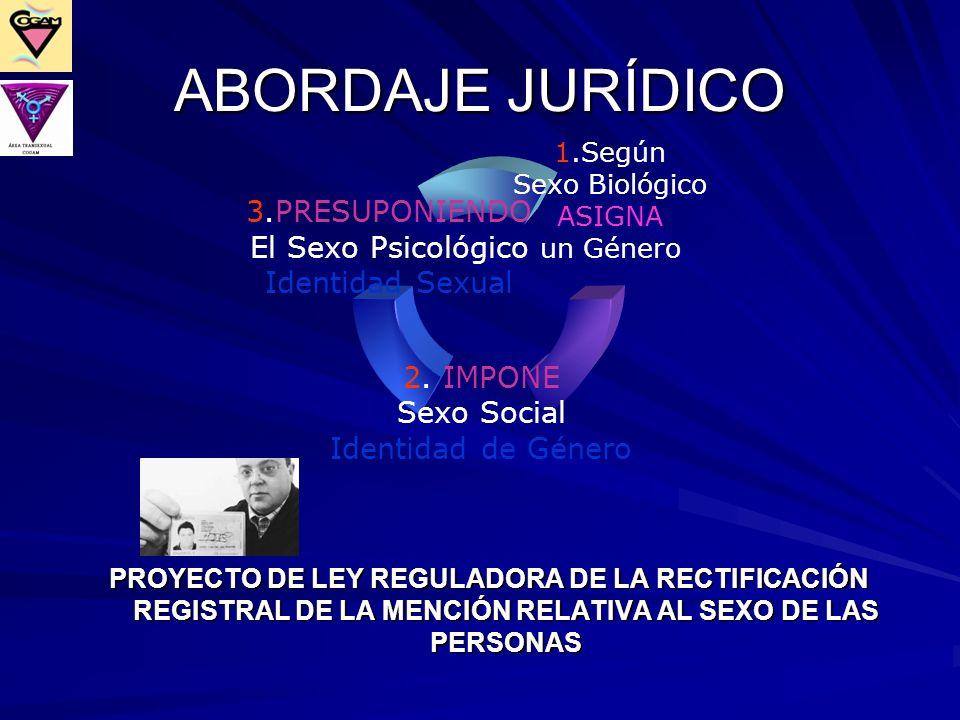 ABORDAJE JURÍDICO PROYECTO DE LEY REGULADORA DE LA RECTIFICACIÓN REGISTRAL DE LA MENCIÓN RELATIVA AL SEXO DE LAS PERSONAS