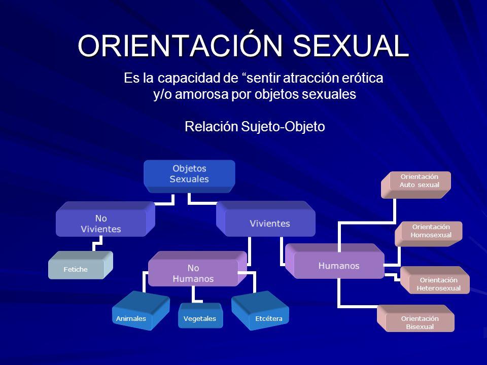 ORIENTACIÓN SEXUAL Orientación Auto sexual Fetiche Orientación Heterosexual Orientación Homosexual Orientación Bisexual Animales Vegetales Etcétera Es
