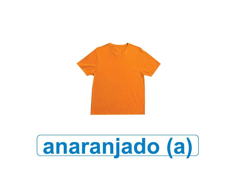 anaranjado (a)