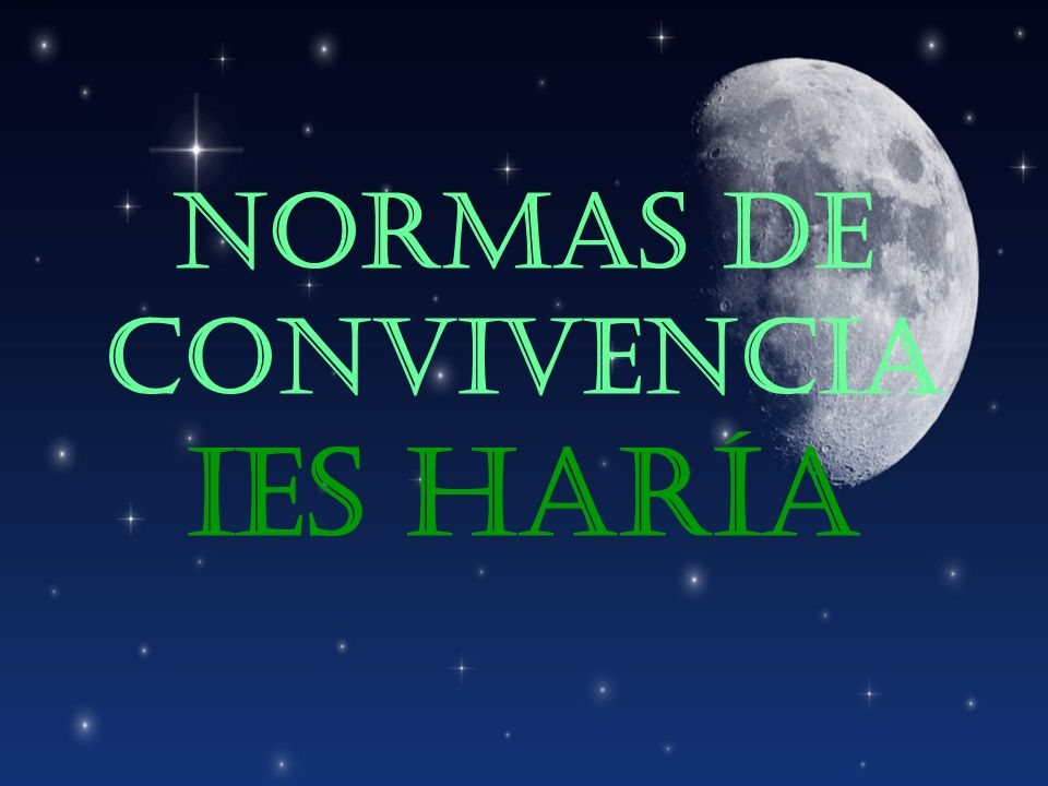 NORMAS DE CONVIVENCIA IES HARÍA