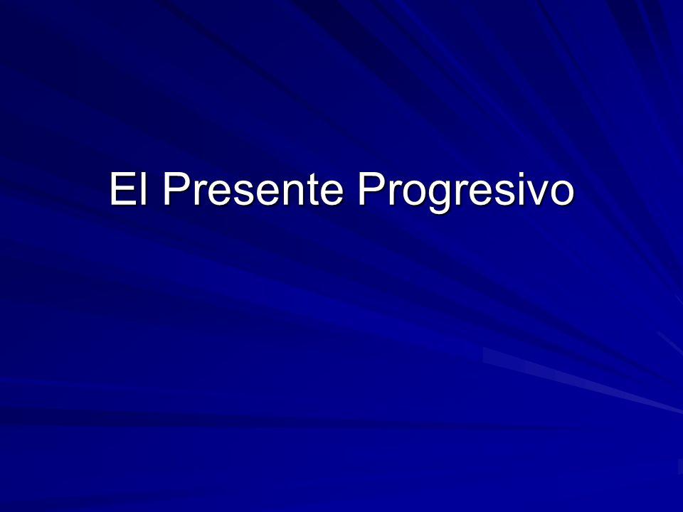 Pedir, Servir, and Dormir stem-change in the present progressive: Pedir = pidiendo Servir =___sirviendo_____ Dormir = ______durmiendo______________ (Reír and Sonreír also change a bit: Riendo = laughing ______sonriendo________ = smiling)