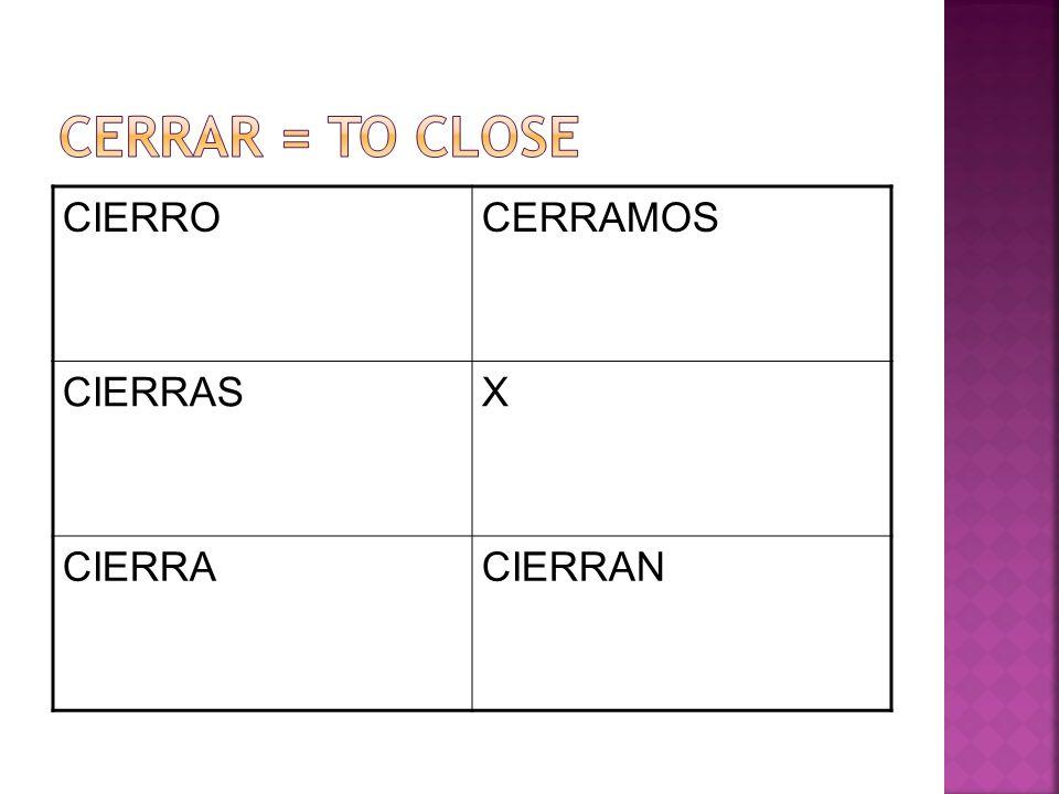 CIERROCERRAMOS CIERRASX CIERRACIERRAN