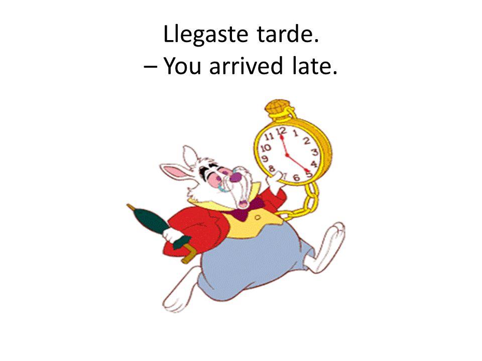 Llegaste tarde. – You arrived late.