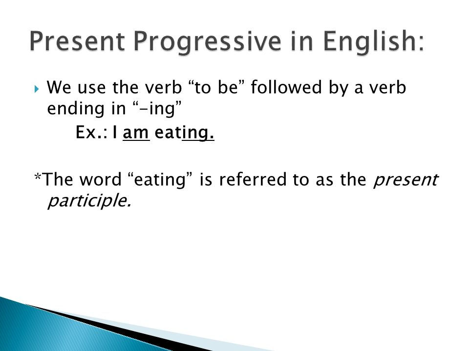 Can you figure out how to form the present progressive in Spanish?