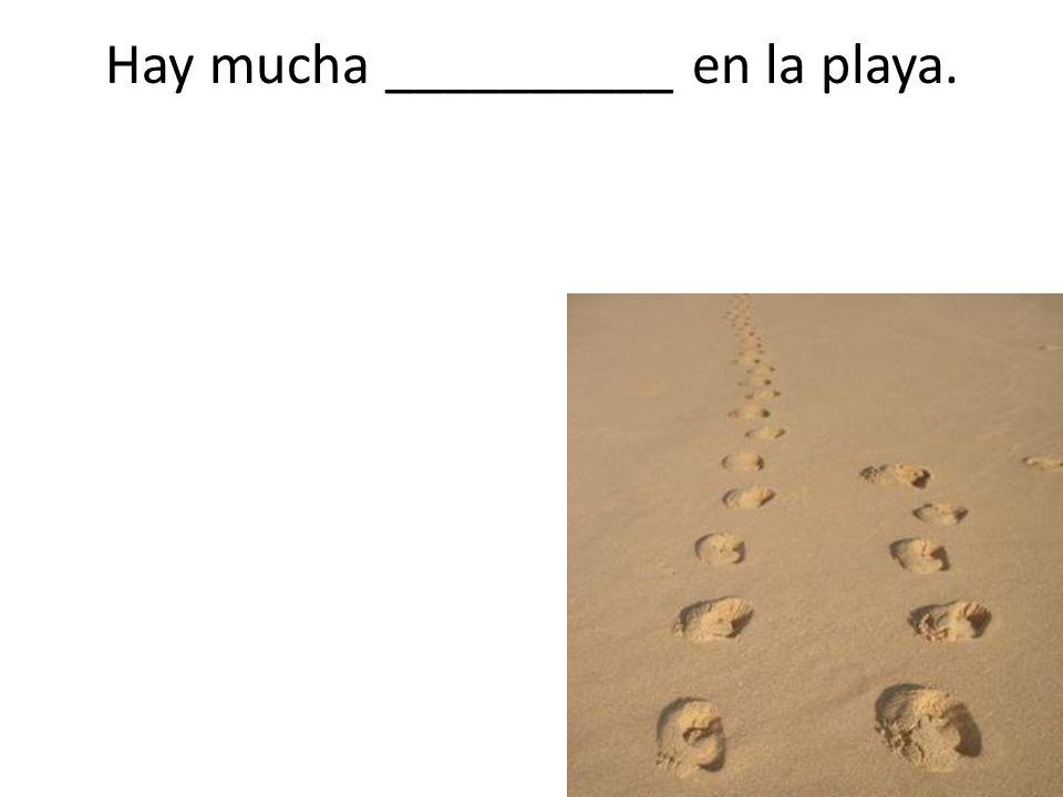 Hay mucha __________ en la playa.