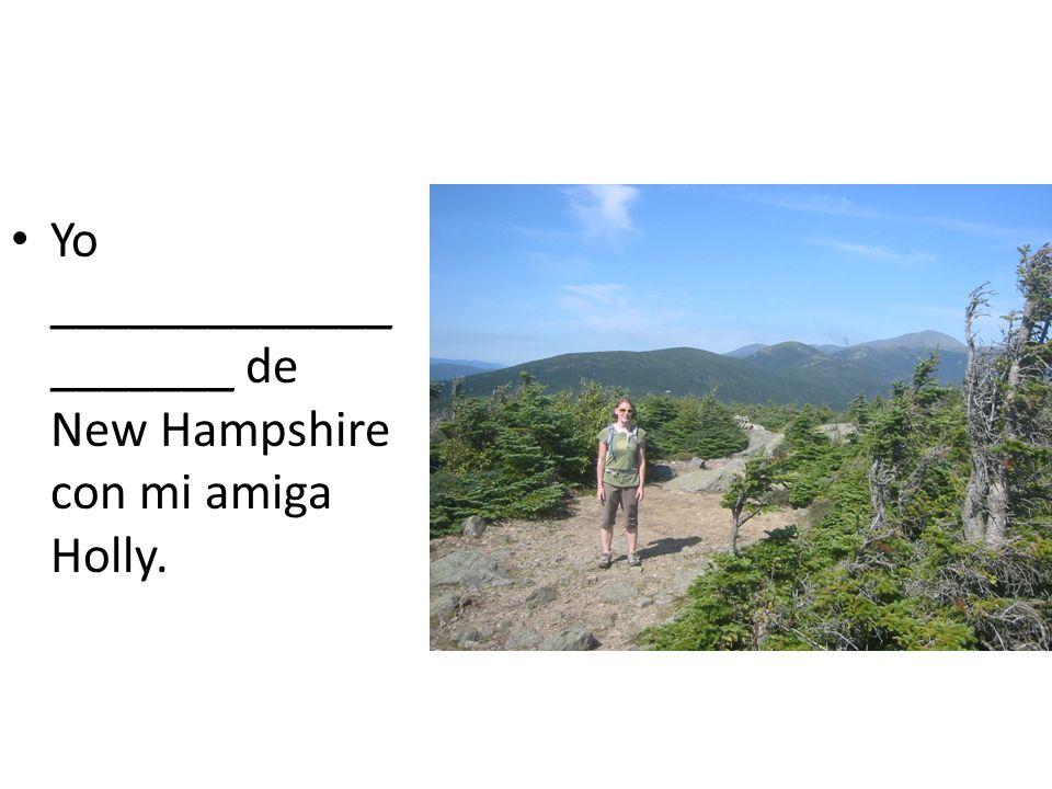Yo _____________ _______ de New Hampshire con mi amiga Holly.