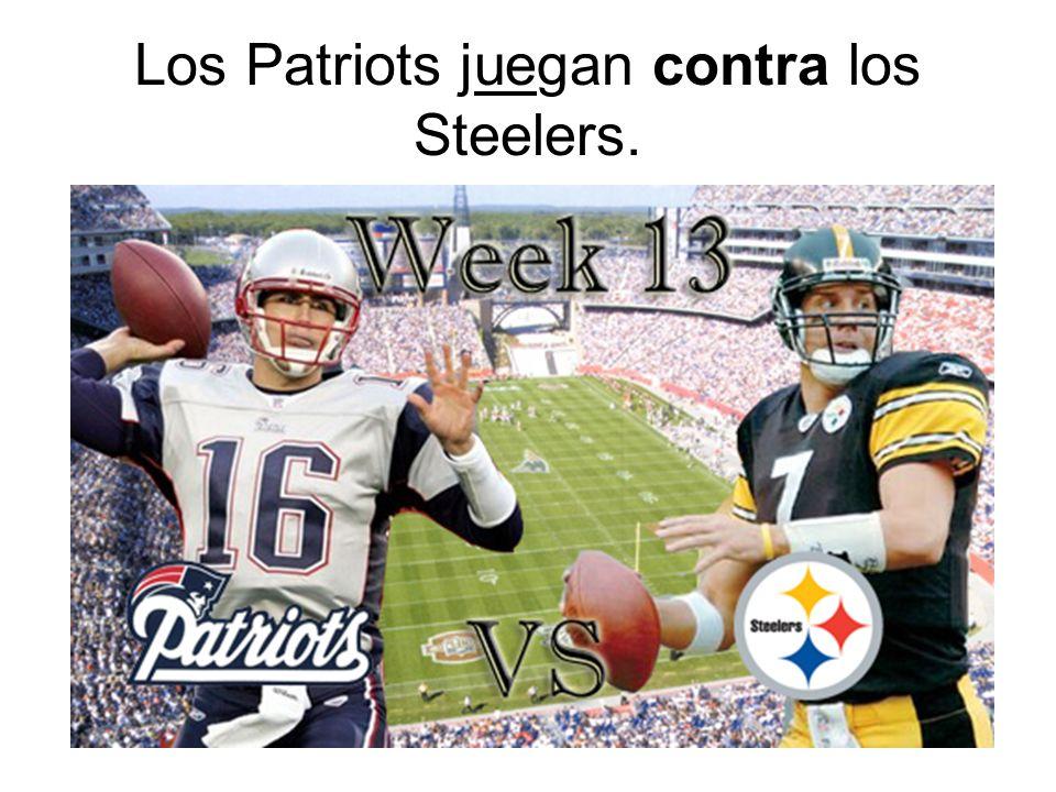 Los Patriots juegan contra los Steelers.
