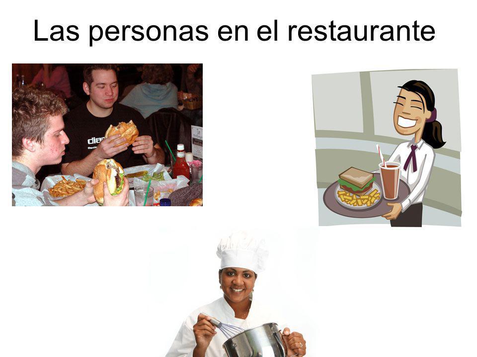 Las personas en el restaurante