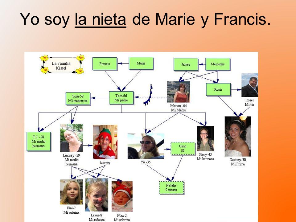 Yo soy la nieta de Marie y Francis. mi abuela