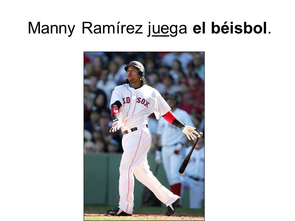 Manny Ramírez juega el béisbol.