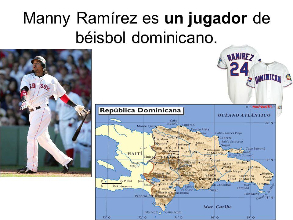 Manny Ramírez es un jugador de béisbol dominicano.