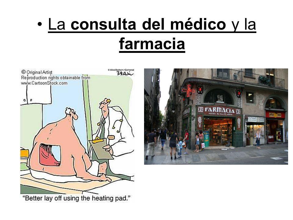 La consulta del médico y la farmacia