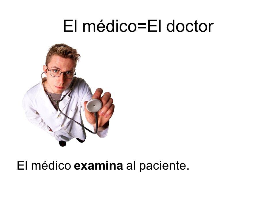 La médica= La doctora La médica examina al paciente.