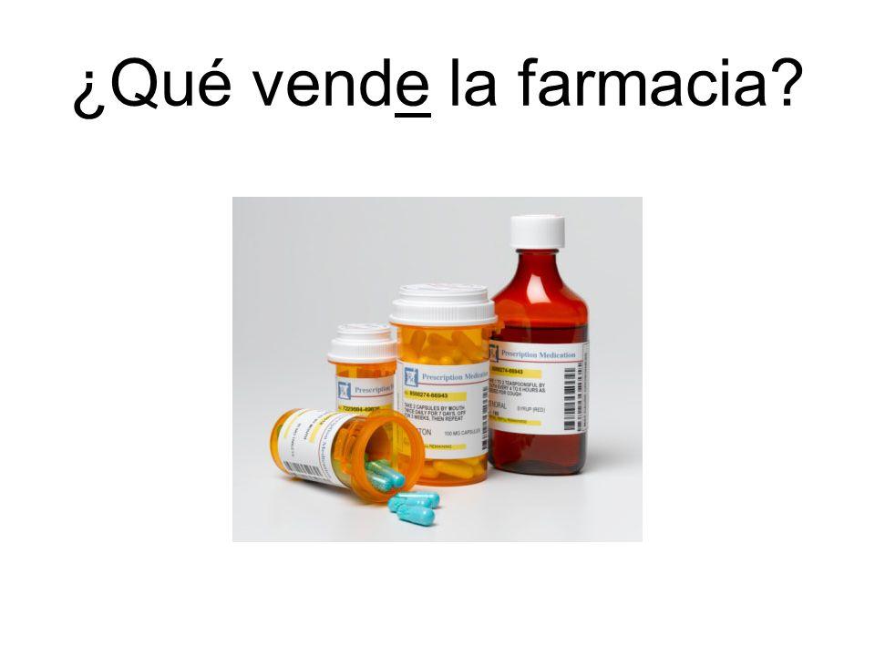 ¿Qué vende la farmacia?