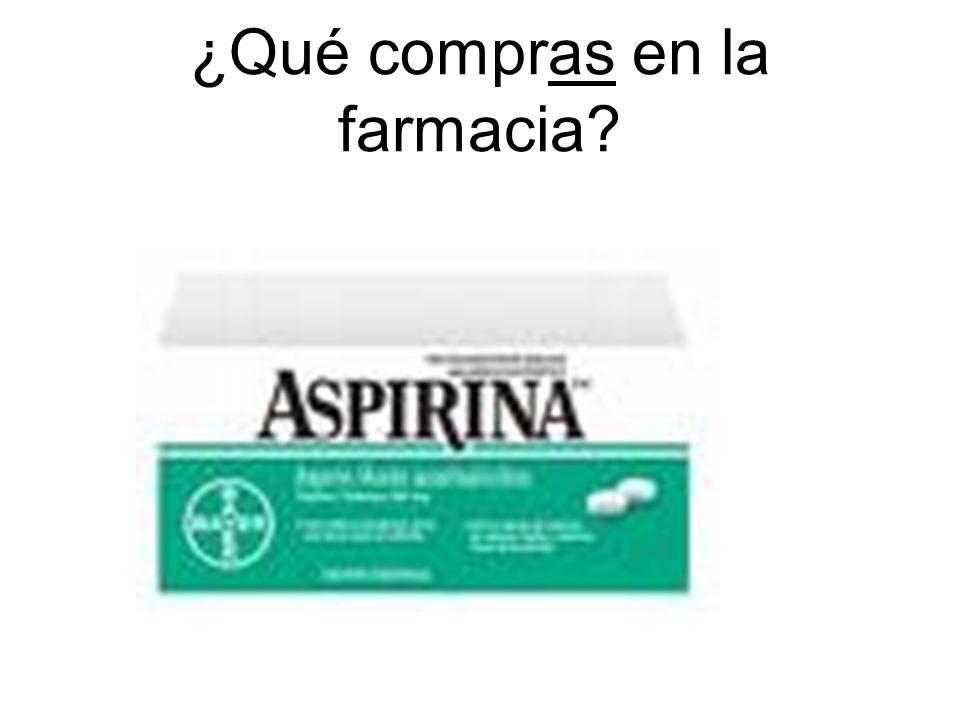 ¿Qué compras en la farmacia?