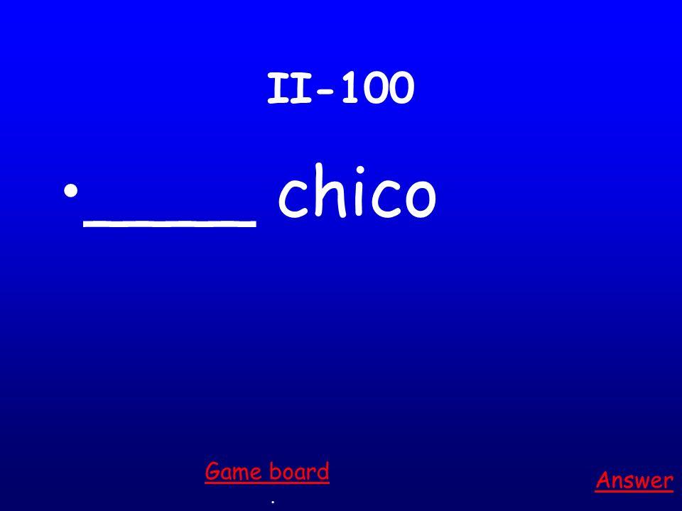 I-500 ___ estudiantes Answer. Game board