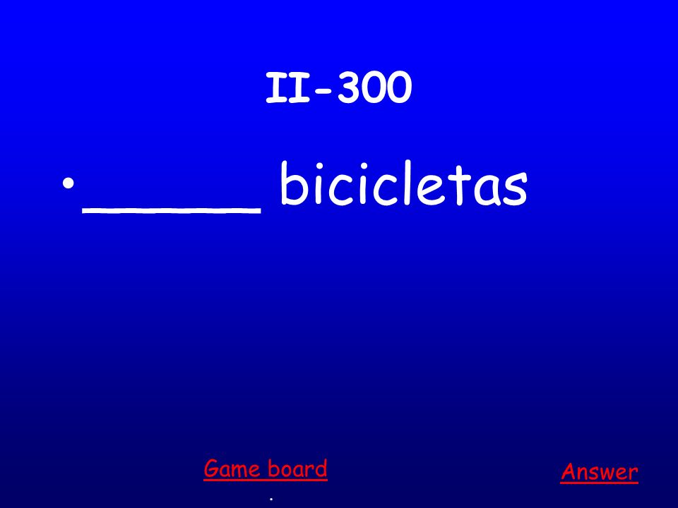 II-200 ____ amiga Answer. Game board