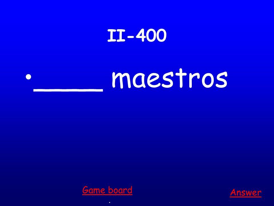 II-300 _____ bicicletas Answer. Game board