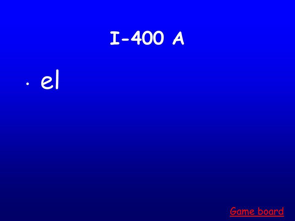 I-300 A las Game board