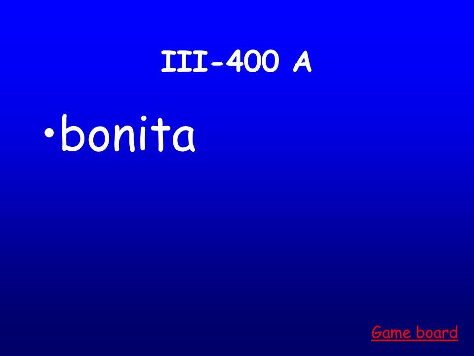 III-300 A joven Game board