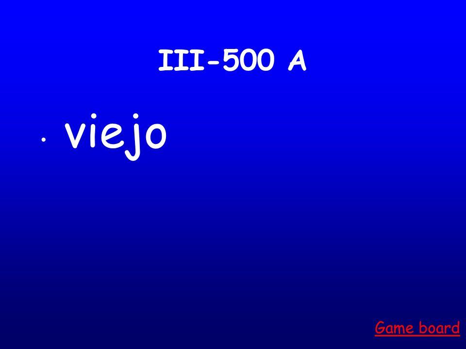 III-400 A bonita Game board