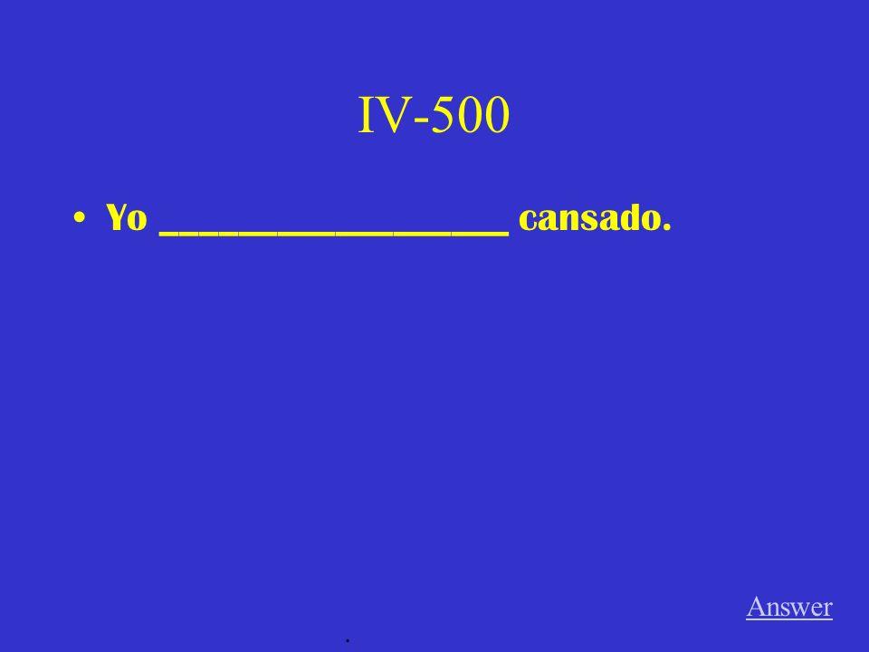 IV-400 Mis hermanos ___________ muy simpáticos. Answer.
