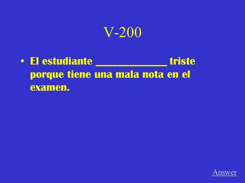 V-100 Carla _____________ en España. Answer.