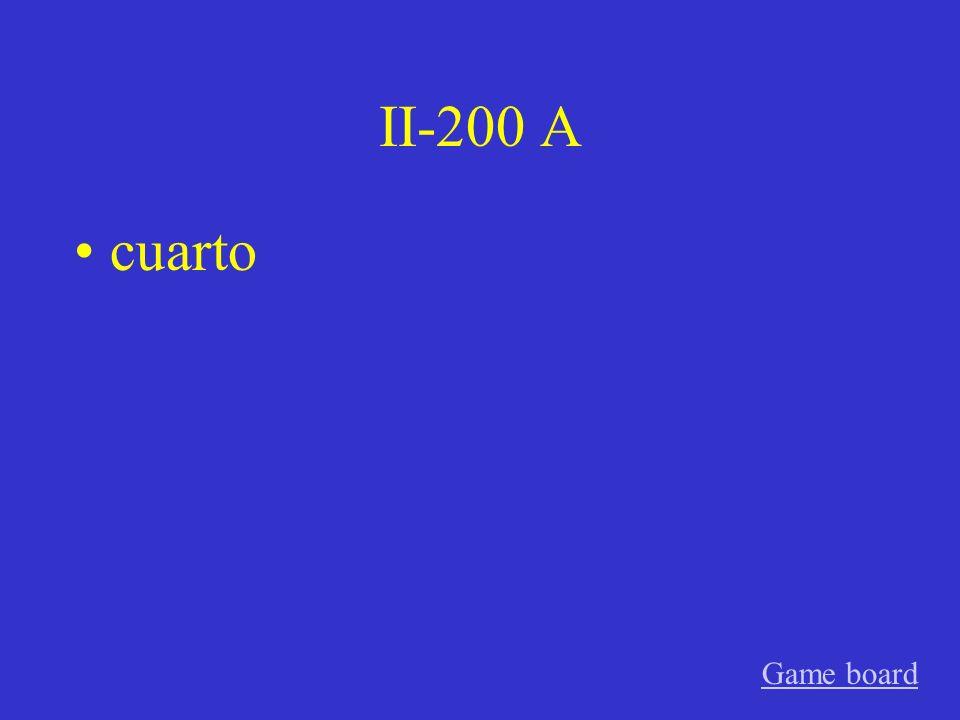 II-100 A segundo. Game board