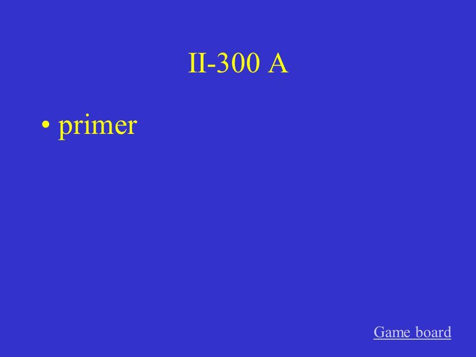 II-200 A cuarto Game board