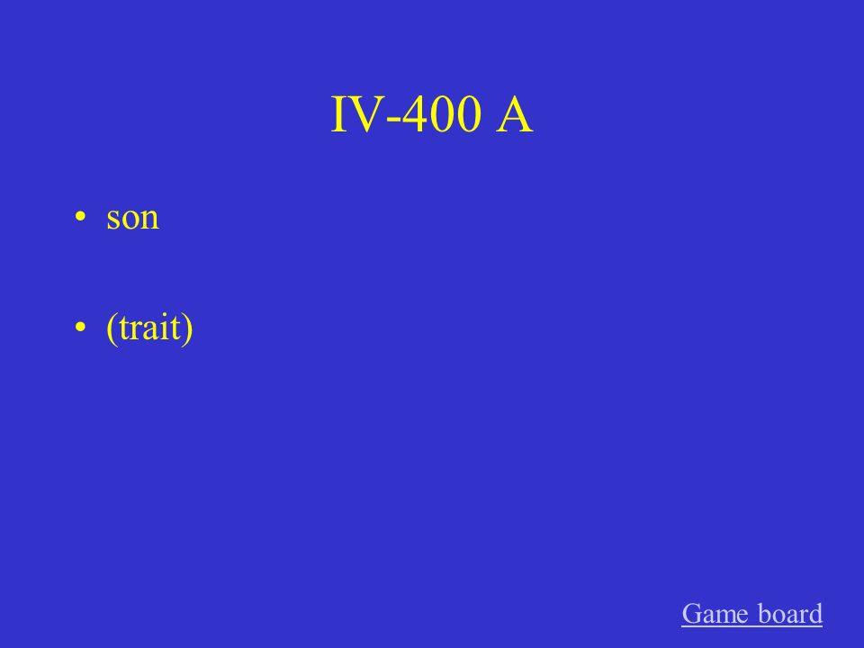 IV-300 A están (location) Game board