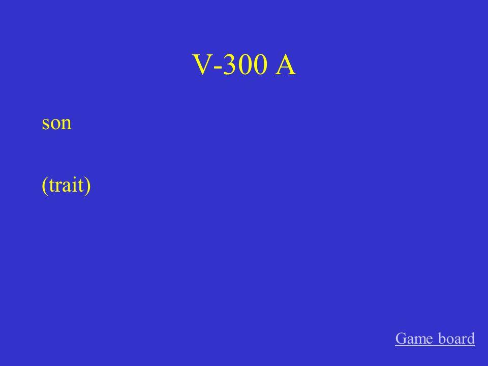 V-200 A está (temporary feeling/emotion) Game board