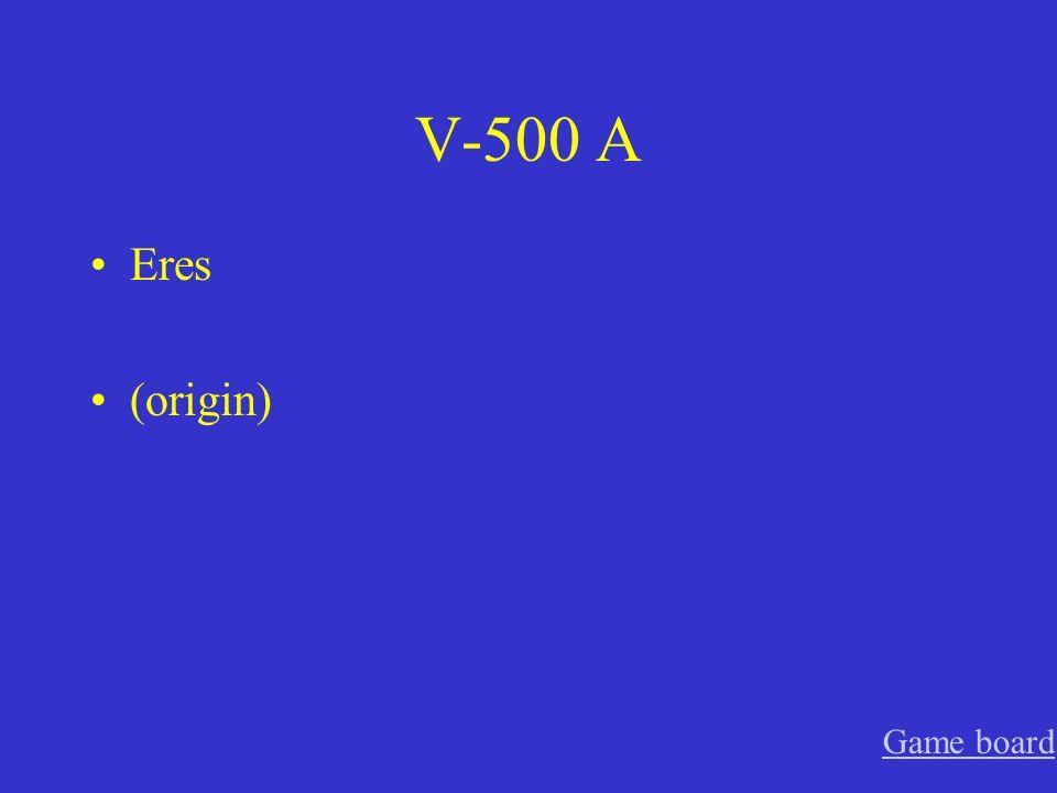 V-400 A estamos (location) Game board