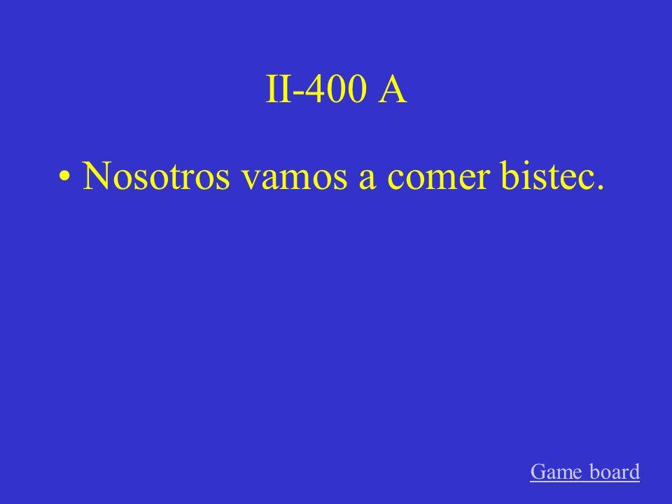 II-300 A Él va a estudiar español. Game board
