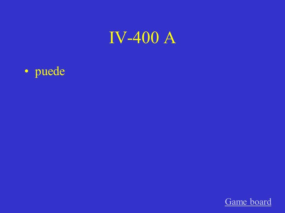 IV-300 A encuentran Game board
