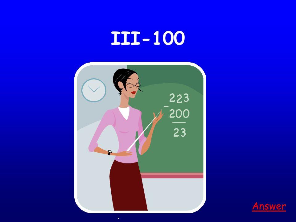 III-100 Answer. Game board