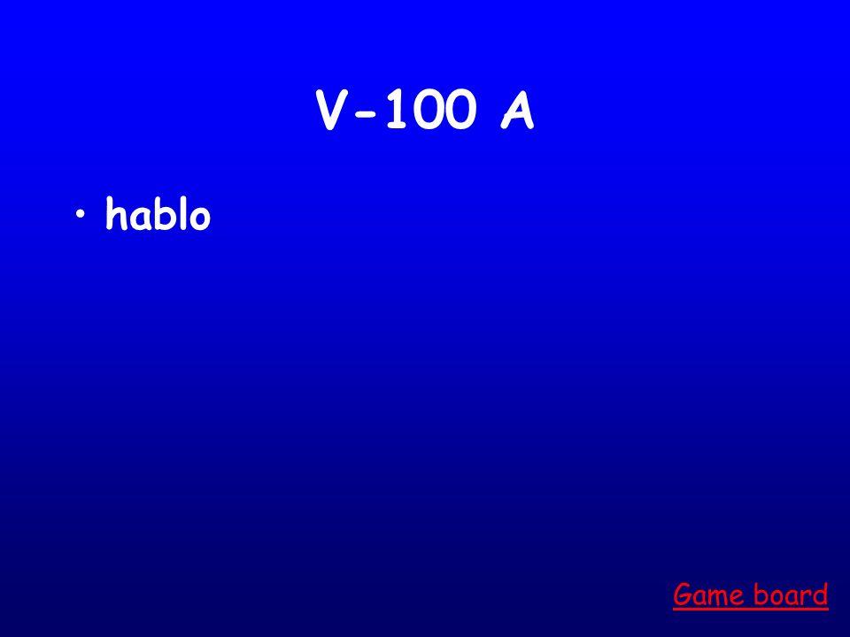 V-100 A hablo Game board