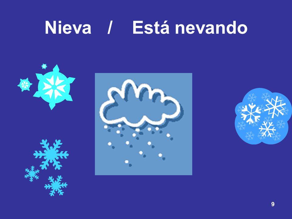 9 Nieva /Está nevando