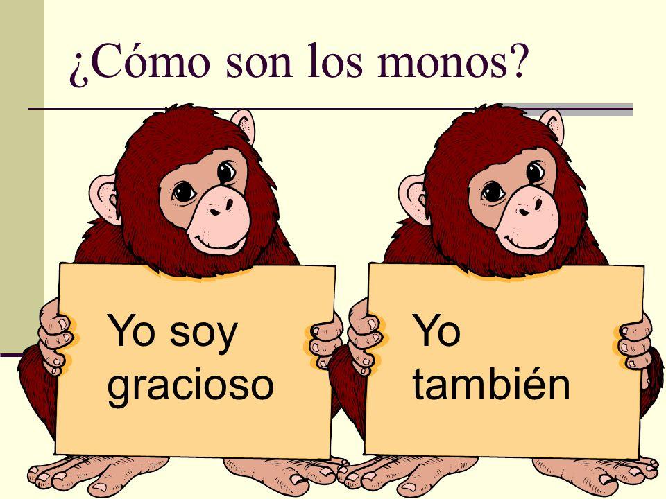 ¿Cómo son los monos? Yo soy gracioso Yo también