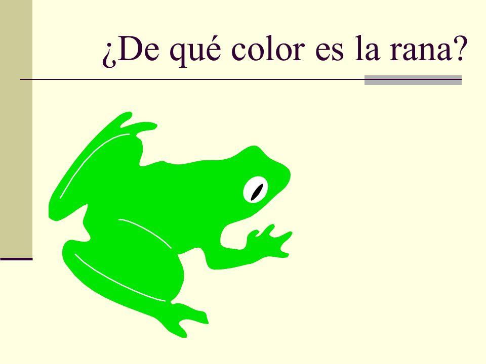 ¿De qué color es la rana?