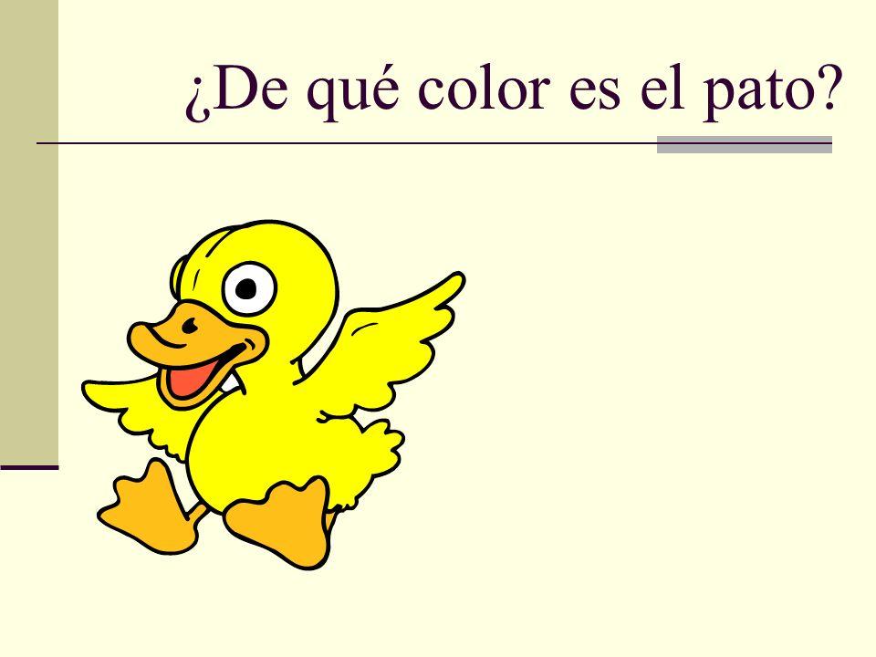 ¿De qué color es el pato?