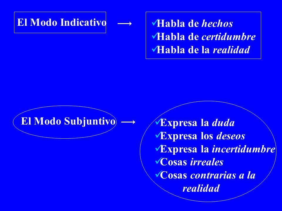 The Subjunctive Verbs that are often followed by que + subjunctive: Decir Insistir en NecesitarPermitir Preferir (e > ie) Prohibir Querer (e > ie) Recomendar (e > ie) Sugerir (e > ie)