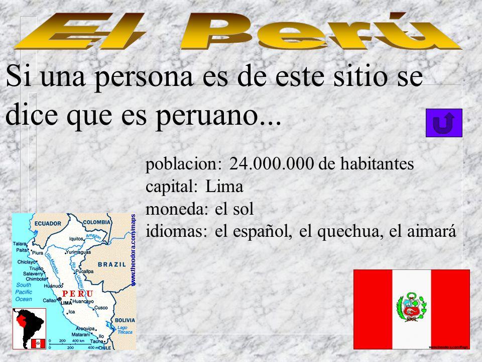 Si una persona es de este país bonito se dice que es ecuatoriano. poblacion: 11.000.000 de habitantes capital: Quito moneda: el sucre idiomas: el espa