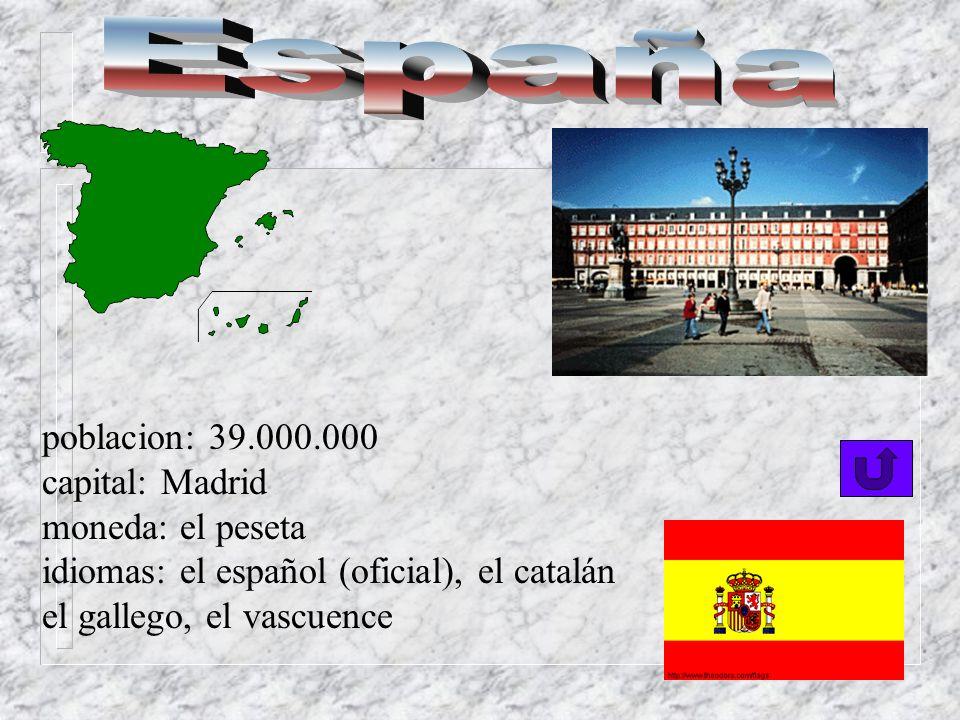 Una persona del Paraguay es paraguayo o paraguaya poblacion: 5.000.000 de habitantes capital: Asunción moneda: el guaraní idiomas: el español (oficial