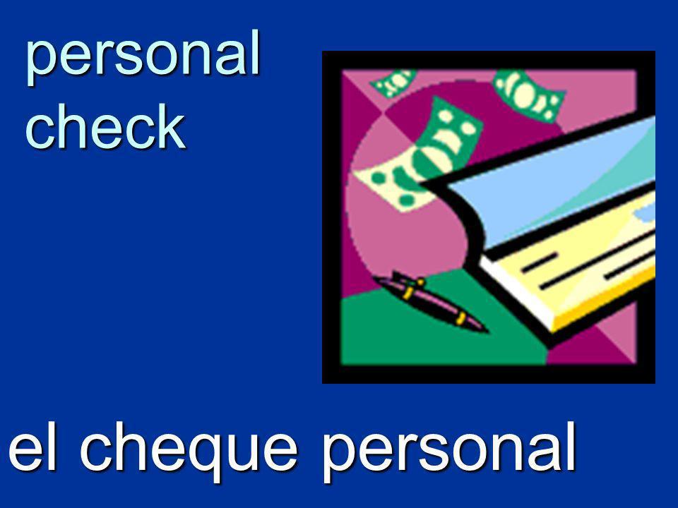 personal check el cheque personal