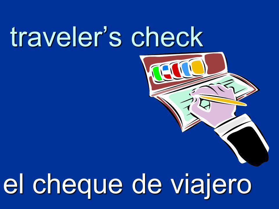 travelers check el cheque de viajero