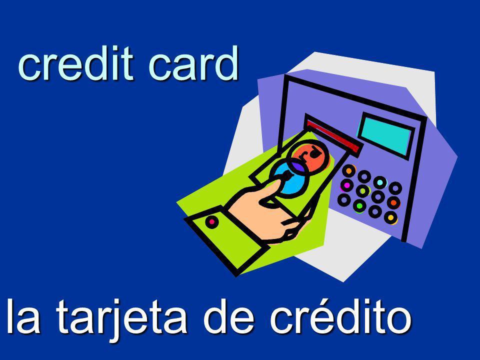credit card la tarjeta de crédito