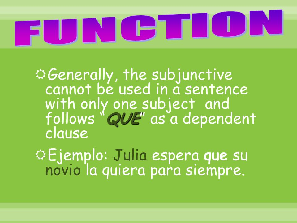 There are 6 irregular verbs in the subjunctive.